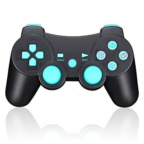 TPFOON PS3 Controller Wireless, Double Vibration SIXAXIS Gamepad Remote for Sony PlayStation 3 DualShock 3 (Sixaxis Controller)