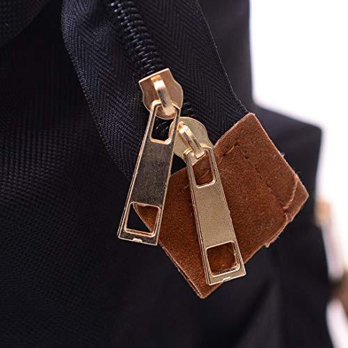Black Travel Bag Unisex Version Bag Double Black Updated Zipper Large Solid Shoulder School Backpack Casual pwOaqWCAw