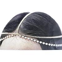 LUNIWEI Hair bling Goddess Head Chain Band