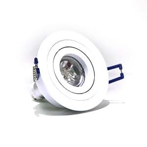 Foco LED Basculante redondo 2 aros Blanco 4,5W blanco cálido para el hogar, oficinas, supermercados, recepciones, museos, bares, etc