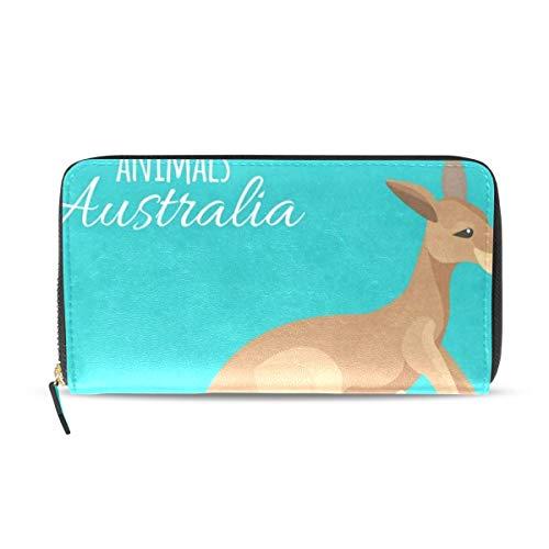 Womens Wallets Kangaroo and Kids Leather Passport Wallet Coin Purse Girls Handbags