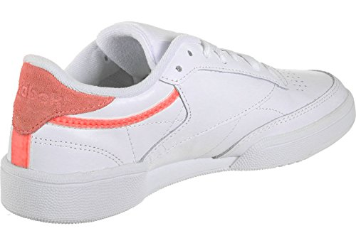 Leather Weiß Trim Club Reebok C 85 W Schuhe SZI4xPp