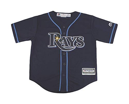 - Majestic MLB Kid's Tampa Bay Rays Baseball Navy Blue Jersey (Large 7)