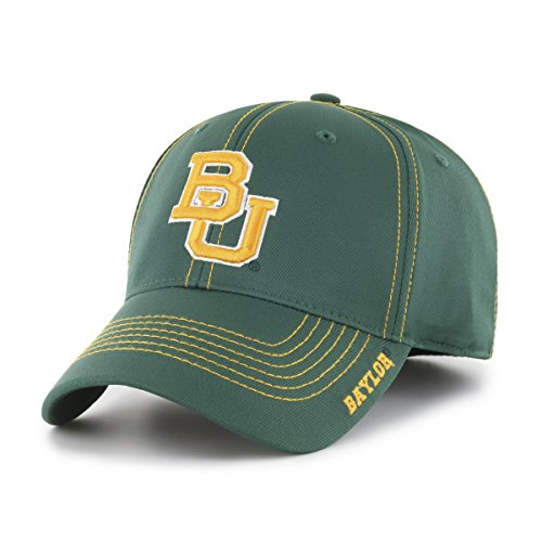 NCAA Baylor Bears Adult Start Line Ots Center Stretch Fit Hat, Medium/Large, Dark Green -