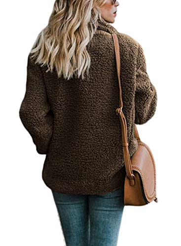 Ziyyoohy manteau femme brune brune manteau Ziyyoohy femme Ziyyoohy qwRZt7t
