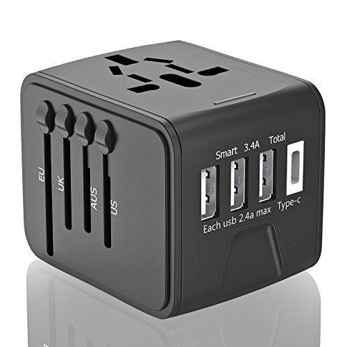 Travel Adapter, Universal Travel Power Adapter Quick USB Cha