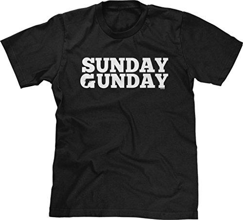 Blittzen Mens Sunday Gunday, L, Black (Gun T-shirt)