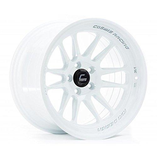 Cosmis Racing Wheels XT (White): 18x9.5 Wheel Size, 5x114.3mm Lug Pattern, 73.1mm Hub Bore, 10mm Off Set.