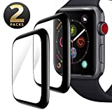NICEDAYM [2 - Pack] Apple Watch 44mm Screen Protector, Tempered Glass Scratch Resistant Full Coverage Anti-Bubble Film Screen Protector for iWatch 44mm Series 4