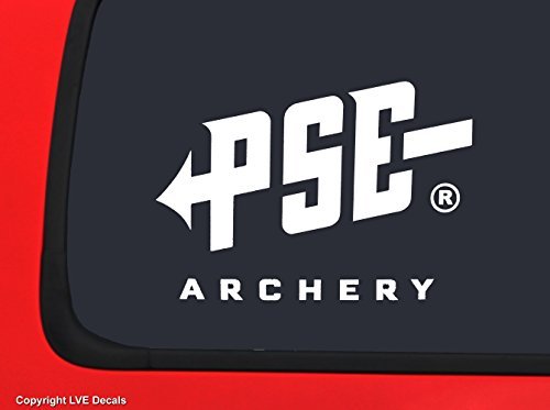 (PSE Archery Logo White Bowhunting window decal)