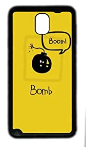galaxy note 3 case,custom samsung galaxy note 3 case,TPU (Rubbber) Material,Drop Protection,Shock Absorbent,black case,Boom Bomb
