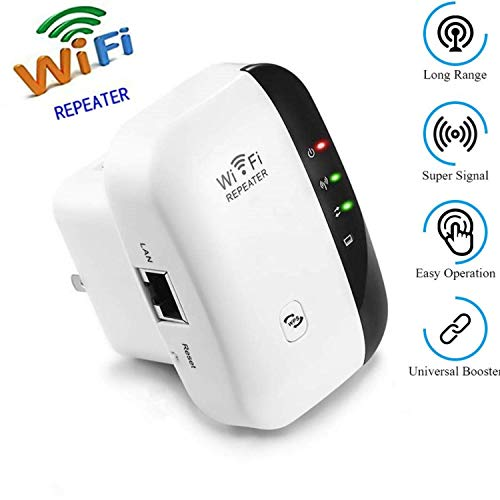 WiFi Range Extender 300 Mbps Wireless Repeater Internet Signal Range Booster Adapter, Easy Setup WLAN Network Amplifier Access Point Dongle - 2.4GHz WPS Function New Chip