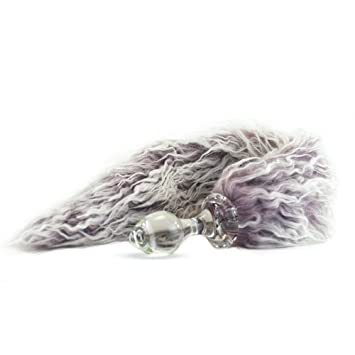 0adf547cee0 Crystal Delights Faux Fur Minx Tail Butt Plug Lilac 2.7 Inches   Amazon.co.uk  Health   Personal Care