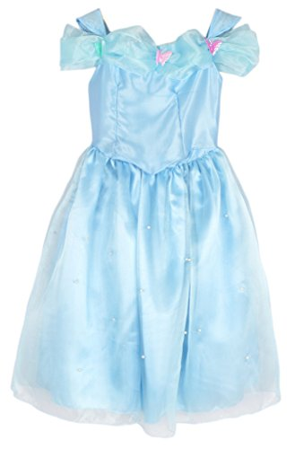 [Eyekepper Dress Butterfly Girl Birthday Party Costume] (Cinderella Dress Up)