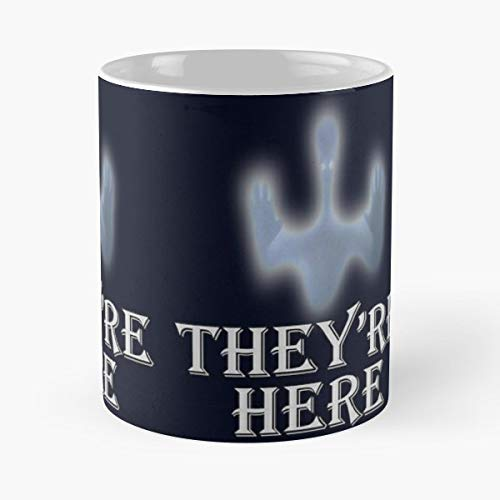 Spooky Halloween Ufo Theyre Here Alien - Funny Sophisticated Design Great Gifts -11 Oz Coffee Mug.the Best Gift For Holidays.]()