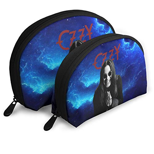 (JENNASTOLZZ Unisex Ozzy Osbourne Daily Music Band Travel Cosmetic Storage Assorted Portable Bags Clutch Pouch Gift 2Pcs for Women)