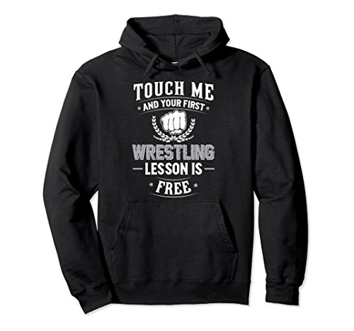 Unisex Wrestling Pullover Hoodie - Your First Lesson Free! Medium Black by Wrestling Training Hoodie