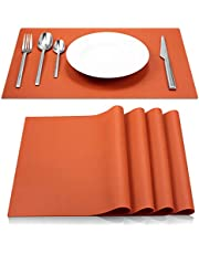 ME.FAN Silicone Placemats [17.7''x12.6''] Heat-Resistant Thicken Non-Slip Tablemats Stain Resistant Anti-Skid Washable Reusable Table Mats Set of 4