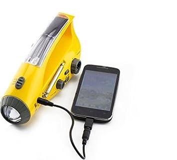 Amazon.com: Solar/mano dinamo de manivela linterna LED de ...