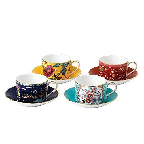 Wedgwood Wonderlust Teacup & Saucer Set of 4
