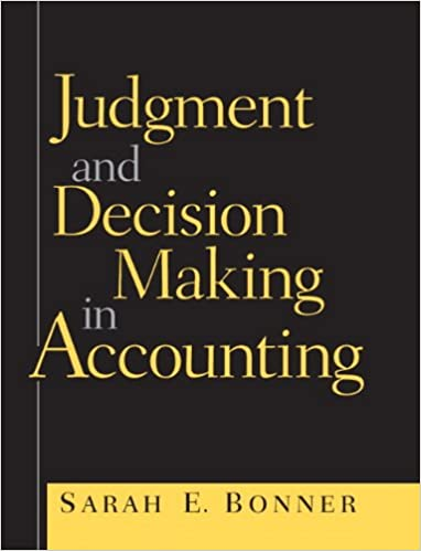 Book Judgment and Decision Making in Accounting