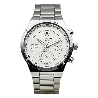 ccf9cf92bb0 Relógio Masculino Tuguir Analógico 5440G Branco  Amazon.com.br ...