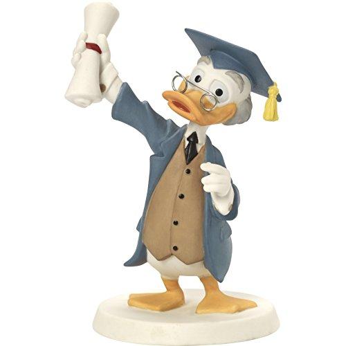 Bisque Collection - Precious Moments 164703 Congratulations You Smartypants You! Bisque Porcelain Figurine Disney Showcase Collection, Multicolor
