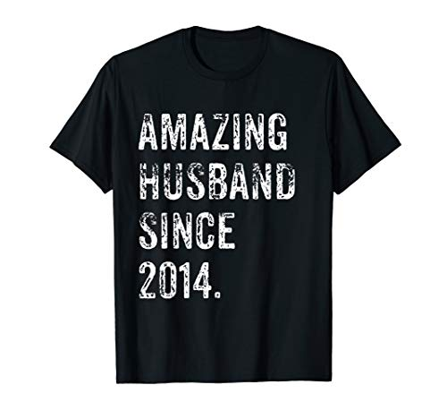 Amazing Husband Since 2014 5 Years Wedding Anniversary Shirt