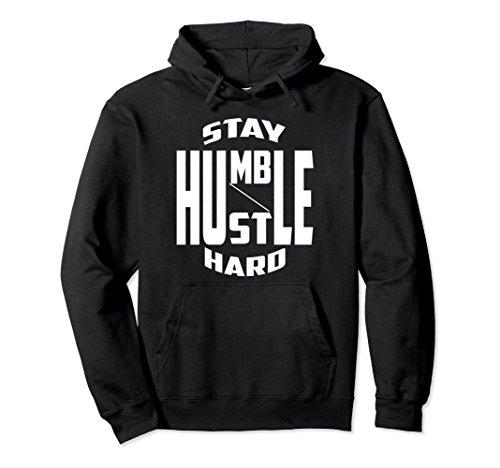 Unisex Urban Teez Stay humble hustle hard hustler t-shirt hoodie 2XL - Sweatshirt Hustler
