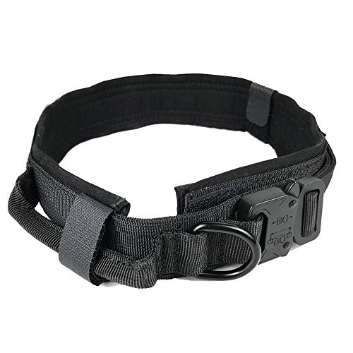 PETSAVANT Dog Collar – Adjustable Nylon Tactical Collar for Dogs Military Dog Collar with Handle K9 for Dogs Training and Service, Comfortable Soft Pet Collar Accessories for Dogs