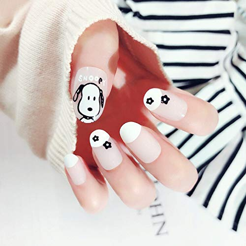 Falses Nails New 24 Pieces Mickey Faux Ongles Decoration Beauty Diy Style Plastic Art Short Fake False Sticker Nail Tips With Glue Gel [n357] -