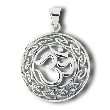 Amazon om hindu and celtic knot sterling silver charm pendant om hindu and celtic knot sterling silver charm pendant aloadofball Gallery