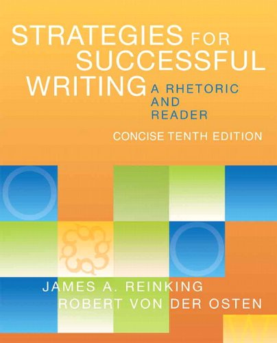 Strategies for Successful Writing, Concise Edition: A Rhetoric and Reader with NEW MyCompLab with eText -- Access Card P