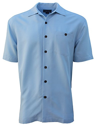 Foxfire Indygo Smith Poly/Rayon Herringbone Mens Shirt Crystal Blue 5X (Big Smith Clothing)