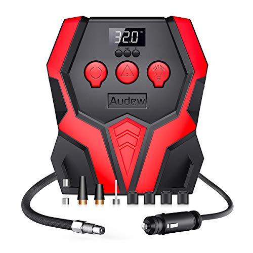Audew Portable Air Compressor Pump, 12V Digital Tire Inflator, 150 PSI Tire Pump for Car, Motorcycle, Bicycle and Other Inflatables (Air Compressor)