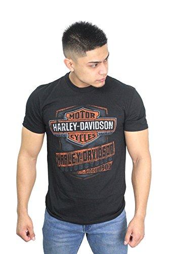 Harley-Davidson 5L33-HF8J Mens Harley Strong Trademark B&S Black Short Sleeve (X-Large) (Davidson Barnett Harley)