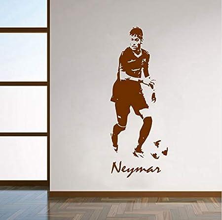 AZLIXLH Fútbol Futbolista Neymar Vinilo Tatuajes de Pared Neymar ...
