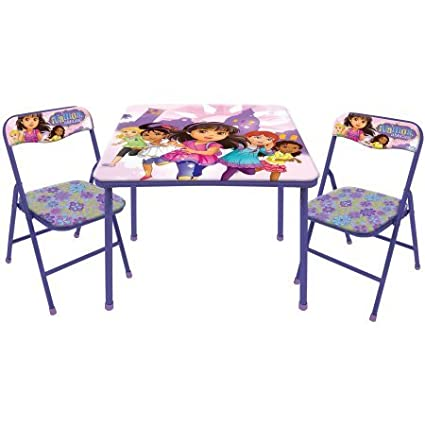 Nickelodeon Dora and Friends 3-Piece Table and Chair Set Idea Nuova WN500740