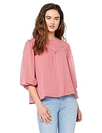 Three of Something Women's Sweet Home Blouse, Rose, Extra Small