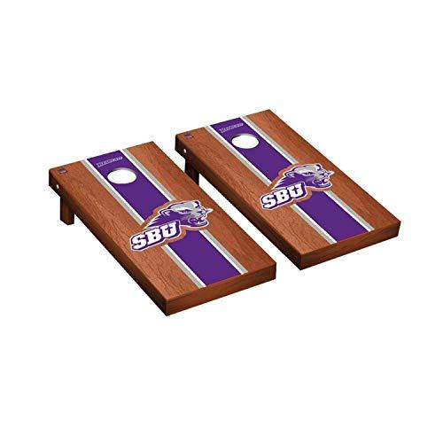 - Victory Tailgate Regulation Collegiate NCAA Rosewood Stained Stripe Series Cornhole Board Set - 2 Boards, 8 Bags - Southwest Baptist University SBU Bearcats