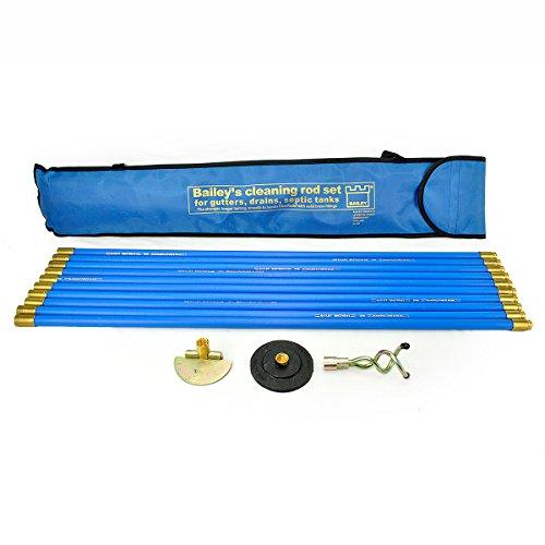 Drain Sweep - Bailey 5431 Universal Drain Rod Set (3) in Carry Bag
