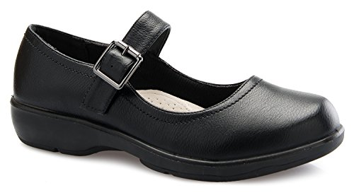 (OLIVIA K Women's Easy Slip On Work Office Uniform Resistant Flatform Daily Life Shoes)