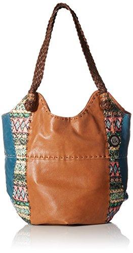 The Sak Indio Large Tote Shoulder Bag Teal Tribal, Teal Tribal, One Size