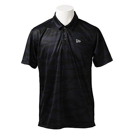 ニューエラ ゴルフ メンズ レディース ポロシャツ 鹿の子 タイガーストライプカモ ネイビー 11556837 L