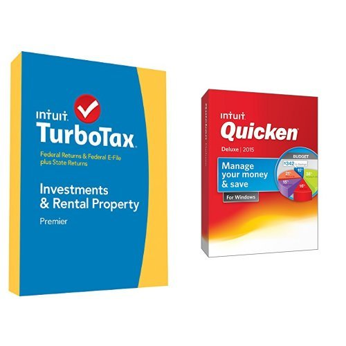 TurboTax Premier 2014 and Quicken Deluxe 2015 Bundle (Quicken 2015 Mac Download For)