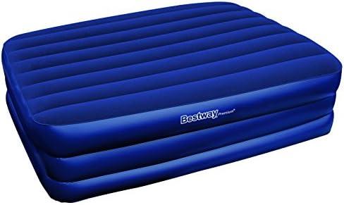 Bestway 67110N Premium Comfort - Colchón hinchable con bomba integrada (203 x 152 x 56 cm), color azul