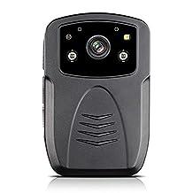 Boblov Eyoyo Full HD 1080P D800 Top Ambarella A7 IR Night Vision Police Camera Person POV View Wearable Body Worn Camera Recorder DVR (32GB)