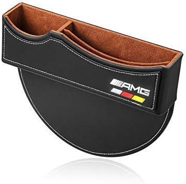 TOMSEN Car Seat Gap Filler Premium PU Full Leather Seat Console Organizer 1 Pack Car Seat Storage Box for Mercedes Benz AMG
