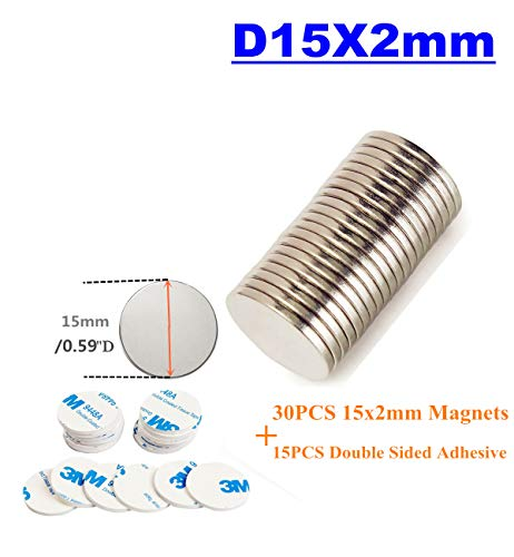 Super Magnets 25PCS Magnetic Crafts,Dry Erase Board, Office Multi-Use Fridge Round Disc Science Whiteboard Decoration (15X2MM)