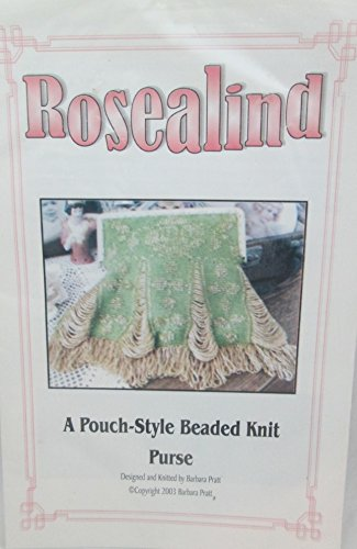 Rosealind Pouch Style Beaded Knit Purse Pattern Pamphlet